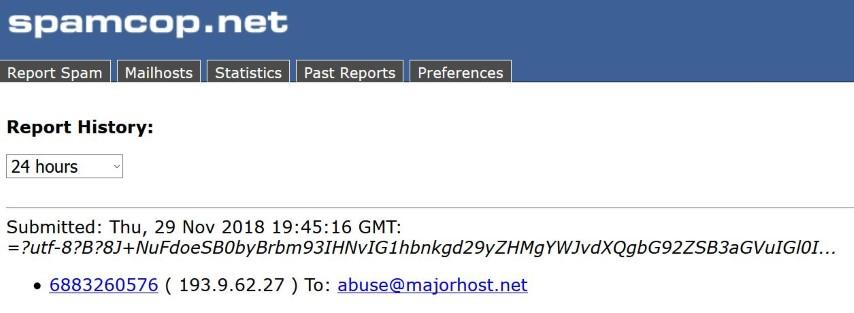 wondering about efficiency of reporting spams - SpamCop